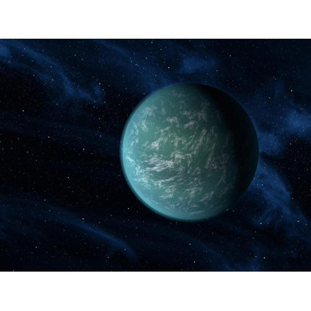 Artist's Concept of Kepler 22b, An Extrasolar Planet Found To Orbit the Habitable Zone Print Wall Art By Stocktrek Images (Planet Zane)