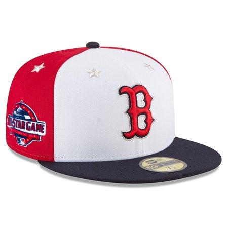 half off 126f7 0f366 Boston Red Sox New Era 2018 MLB All-Star Game On-Field 59FIFTY Fitted Hat -  White Navy - Walmart.com