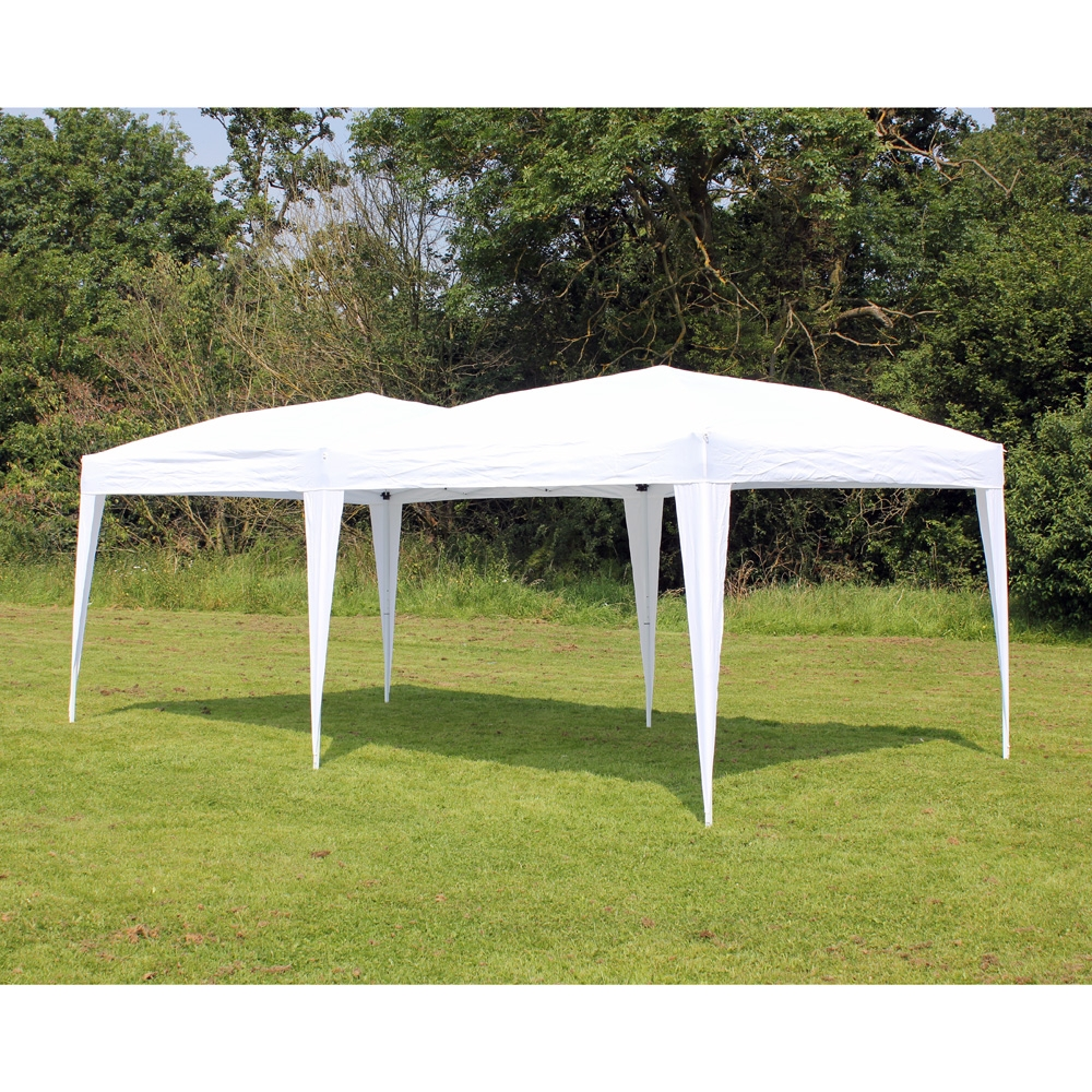 New 10 X 20 Palm Springs White Pop Up Ez Set Up Canopy