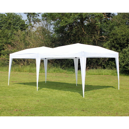 New 10 X 20 Palm Springs WHITE Pop UP EZ Set Up Canopy Gazebo