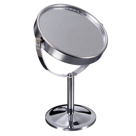 6 Inch 360 degrees Table Mirror Magnification Tabletop Vanity Standing Oval Mirror Two Side Makeup  - image 2 de 10