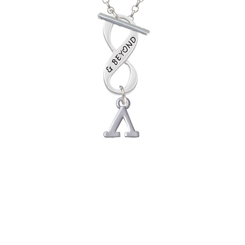 Small Greek Letter - Lambda - & Beyond Infinity Toggle Chain Necklace