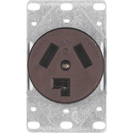 Dryer Outlet Receptacle (Eaton Cooper Wiring 30A 3 Wire Dryer Receptacle)