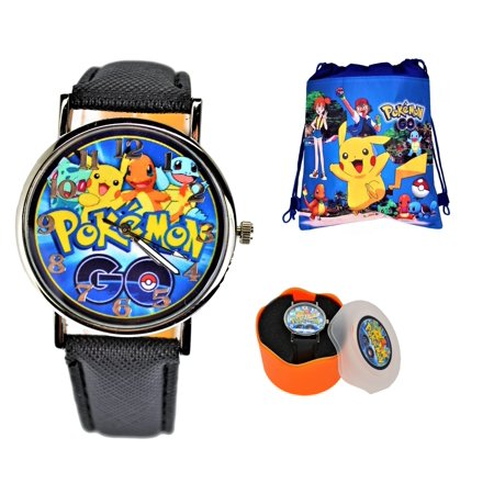 Pokemon Unisex Quartz Analog Wrist Watch For Youth . Large Display. Luminous Watch Hands. - Large Quartz Watch