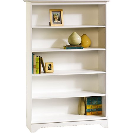 sauder o 39 sullivan falls village 5 shelf bookcase white. Black Bedroom Furniture Sets. Home Design Ideas