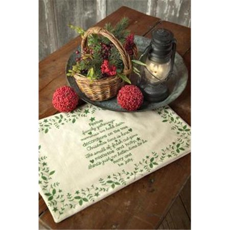Heritage Lace CT-1319NG Christmas Time 13 x 19 in. Placement - Natural &