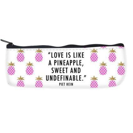 POPCreation Pineapple Quotes Stylish School Pencil Case Pencil Bag Zipper Organizer Bag