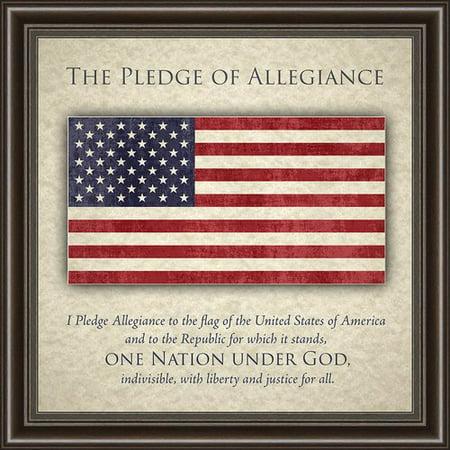 Charlton Home Pledge Of Allegiance Framed Memorabilia