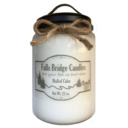 Mulled Cider Scented Jar Candle, Large 22-Ounce Soy Blend, Falls Bridge Candles