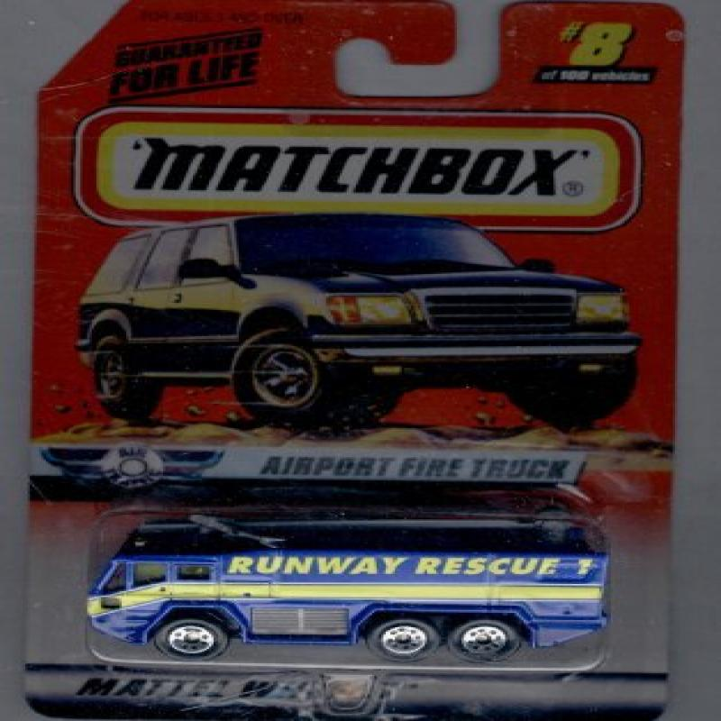 Matchbox 1998-8 of 100 Series 8 AIR Traffic Airport Fire Truck 1:64 Scale by Mattel by