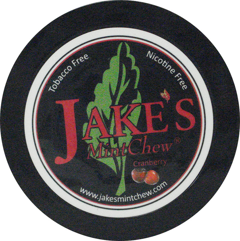 Jake's Mint Chew - Cranberry - 5 pack - Tobacco & Nicotine Free!