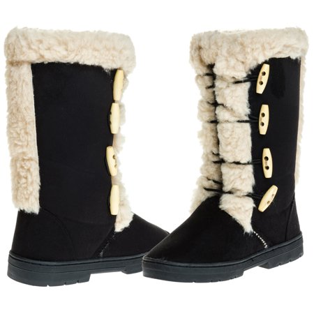 Sara Z Ladies Microsuede 10  Winter Boots With Sherpa Trim
