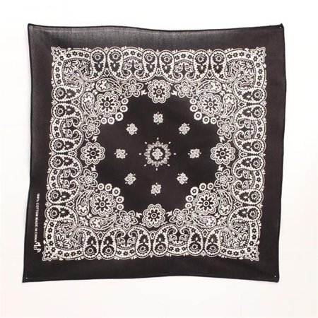 M&F Western 1001001 Paisley & Floral Design Bandanas, Black & White](Red Pirate Bandana)