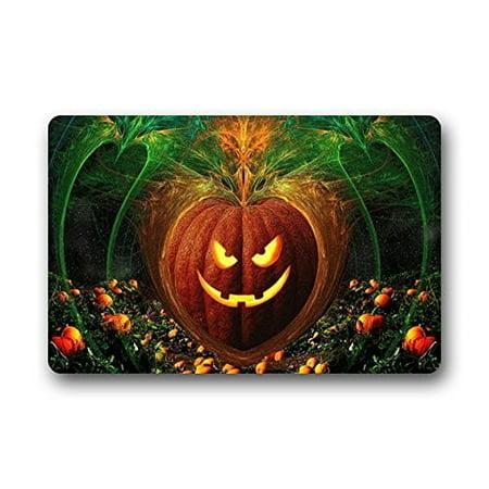 WinHome Happy Halloween Pumpkin Doormat Floor Mats Rugs Outdoors/Indoor Doormat Size 23.6x15.7 inches](Floor 10 Halloween)