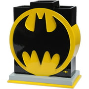 Batman Kids Toothbrush Holder Bathroom Accessory, Black and Yellow