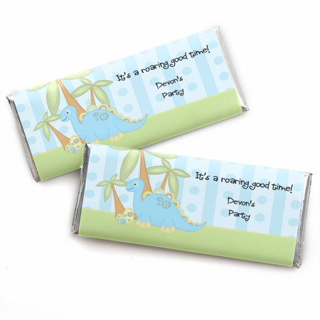 Baby Boy Dinosaur - Candy Bar Wrappers Baby Shower Favors - Set of (Boy Candy Wrappers)
