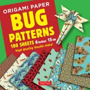 "Origami Paper 100 sheets Bug Patterns 6"" (15 cm) : Tuttle Origami Paper: High-Quality Origami Sheets Printed with 8 Different Designs: Instructions for 8 Projects Included"