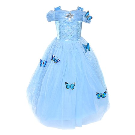 Cinderella Dresses (Cinderella Dress Princess Costume Simulation Butterfly)