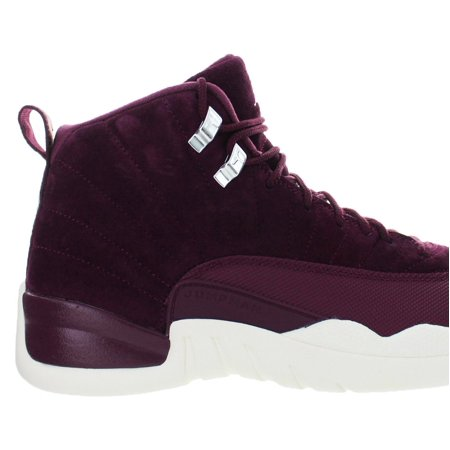 Mens Air Jordan 12 XII Retro Bordeaux Metallic Silver 130690-617