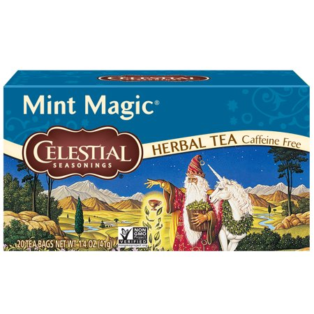 (2 Pack) Celestial Seasonings Herbal Tea, Mint Magic, 20 Count