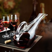 1200ml Luxurious Crystal Glass Lead-free Red Wine Decanter Carafe Pourer Aerator
