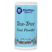 Wise Ways - Foot Powder Tea Tree - 3 oz.