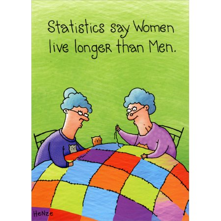Oatmeal Studios Women Sewing Quilt Funny Birthday Card (Sewing Cards)