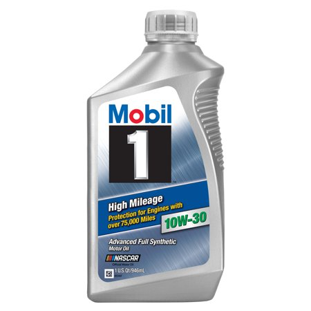 Mobil 1 High Mileage Full Synthetic Motor Oil 0W-20, 1 qt