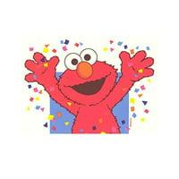 Elmo Celebration Sesame Street Edible Image Photo 1/4 Quarter Sheet Cake Topper Personalized Custom Customized Birthday Party