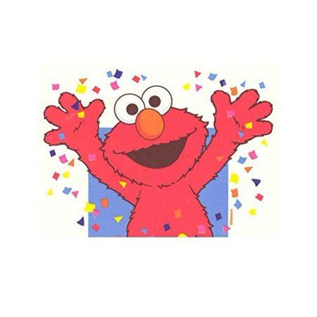 Elmo Celebration Sesame Street Edible Image Photo 1 4 Quarter Sheet Cake Topper Personalized Custom Customized Birthday Party