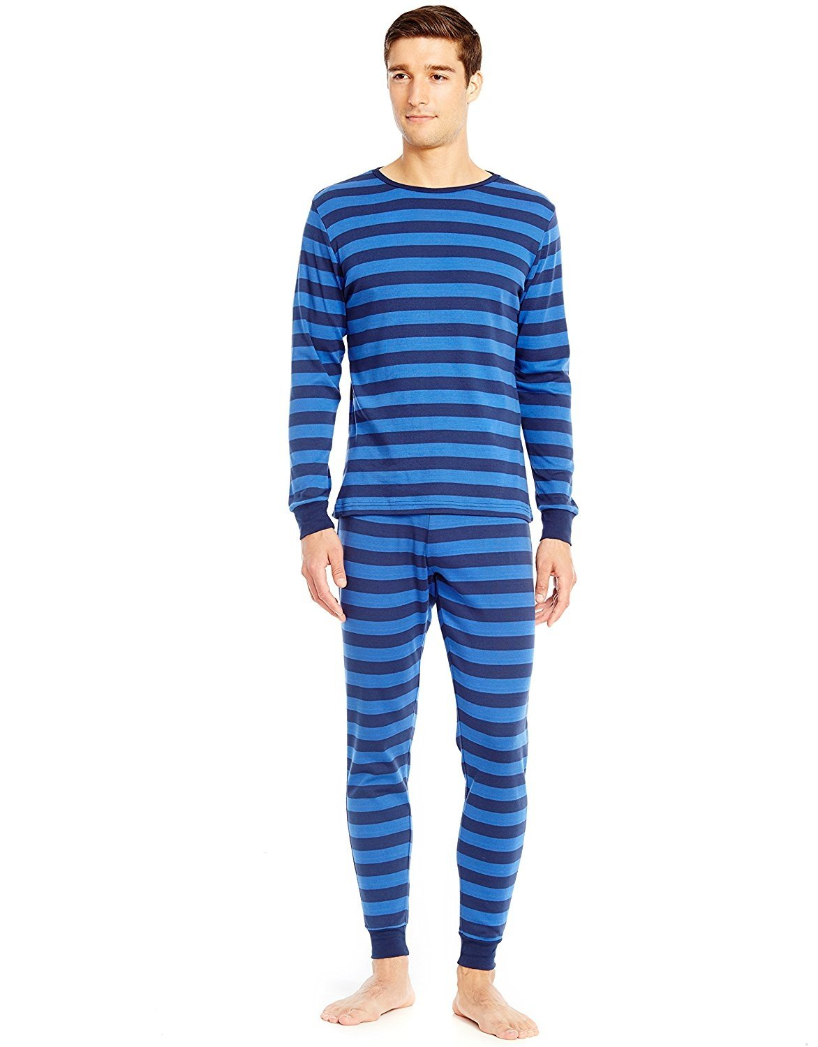 dab8e24116 Leveret Men s Fitted Striped Pajama Set 100% Cotton (Size X Small-X ...