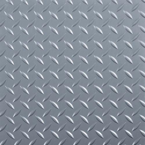 "G-Floor RaceDay Peel and Stick Tile with PSA, Diamond Tread, 12"" x 12"", Slate Grey, 20pc"