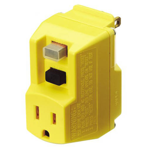 TRC 90265-6-012 Shockshield Yellow Portable GFCI Plug with Surge Protection
