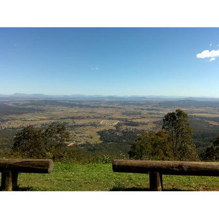 Canvas Print Australia Landscape Queensland Mount Tambourine Stretched Canvas 10 x 14 - Wholesale Tambourines