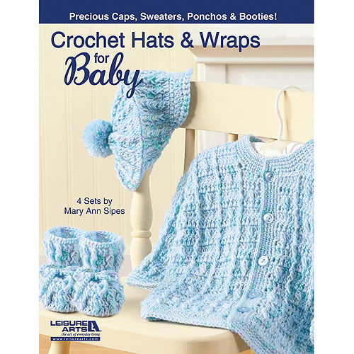 Leisure Arts Crochet Hats And Wraps For Baby