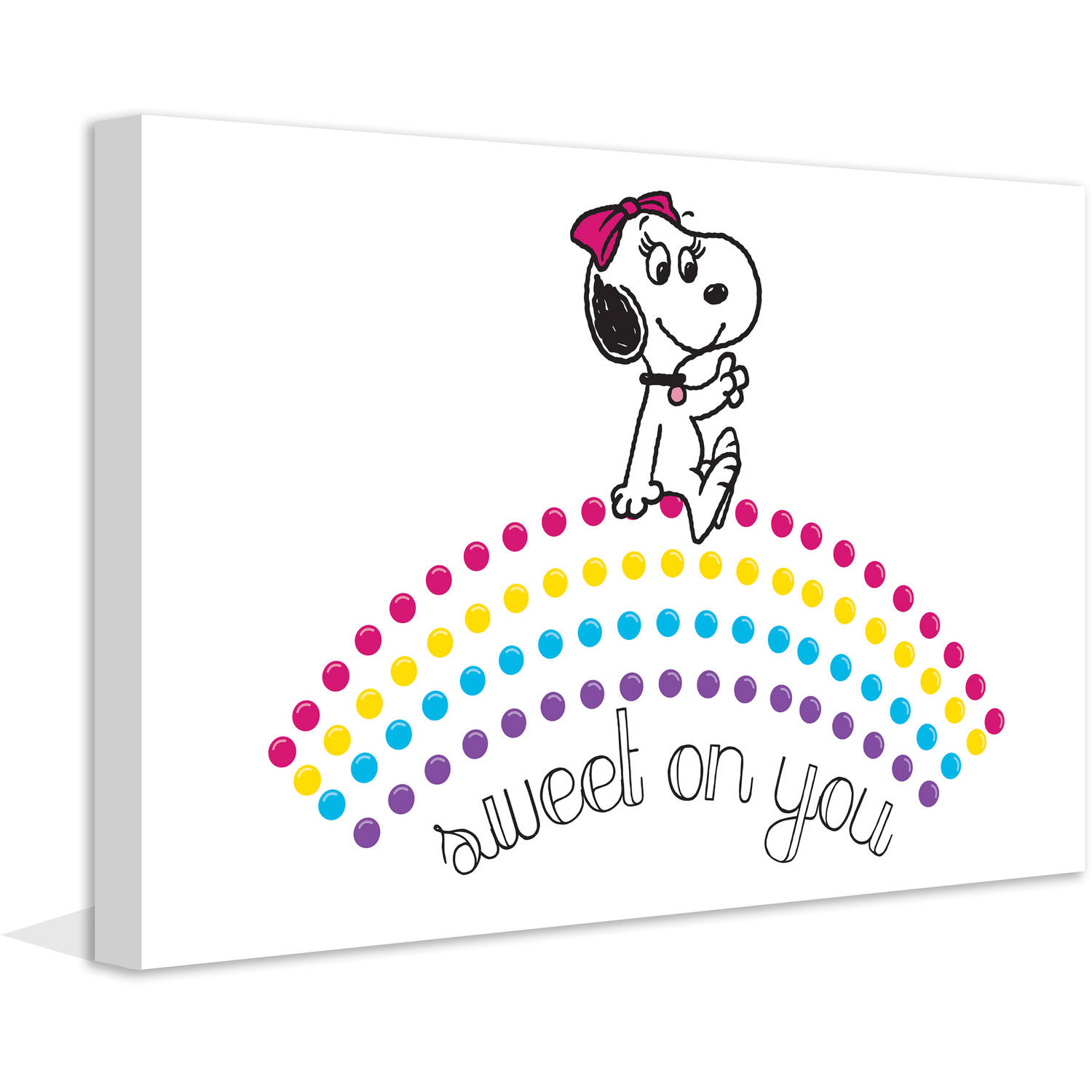 "Marmont Hill ""Belle Sweet on You"" Peanuts Print on Canvas"