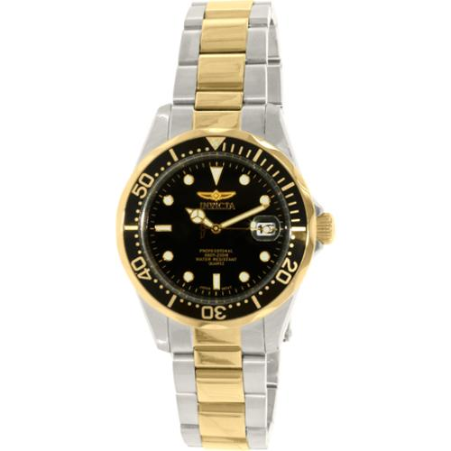 Invicta 8934 Men's Pro Diver Two-Tone Black Dial Watch