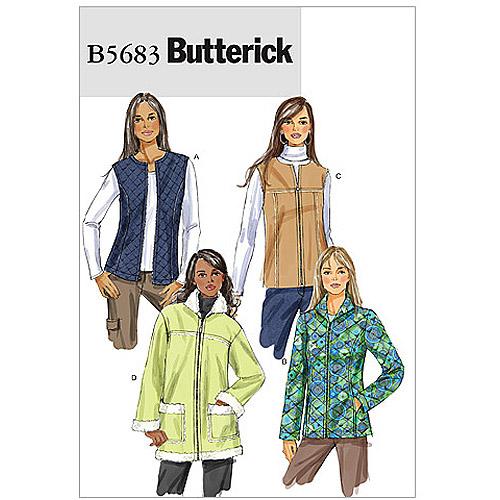 Butterick Pattern Misses' Vest and Jacket, Y (XS, S, M)