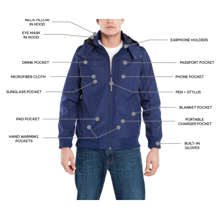 Mens Large Jacket Size Chart (BAUBAX Men's Blue Bomber Jacket - SIZE)