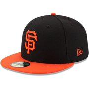San Francisco Giants New Era Youth Authentic Collection On-Field Alternate 59FIFTY Fitted Hat - Black/Orange