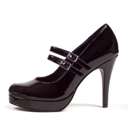 Black Black Double Strap Mary Jane Ellie Shoes 421-Jane - Double Strap Mary Jane