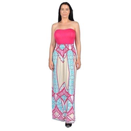68dcbe20d0d02 Overstock - Women's Fuschia Strapless Dresses Fuschia - Walmart.com
