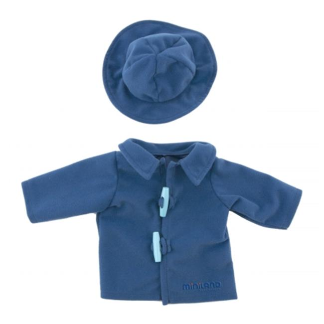 Miniland Educational 31548 Blue Duffle Coat with Hat 15 inch - 15 . 75 inch
