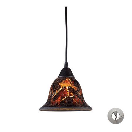 Pendants 1 Light With Dark Rust Finish Firestorm Glass Medium Base 7 inch 100 Watts - World of Lamp