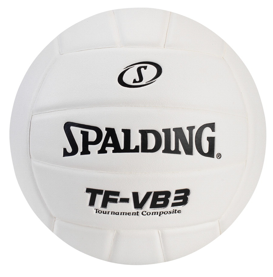 Spalding TF-VB3 Top Flite Leather Volleyball, White