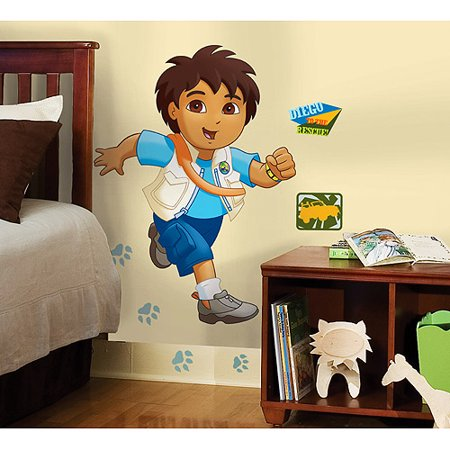 RoomMates - Go, Diego, Go! Peel & Stick Giant Wall Decal - Walmart.com