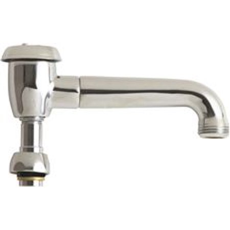 Chicago Faucets L-Type Swing Spout With Atmospheric Vacuum Breaker, 4 In. High, Chrome ()