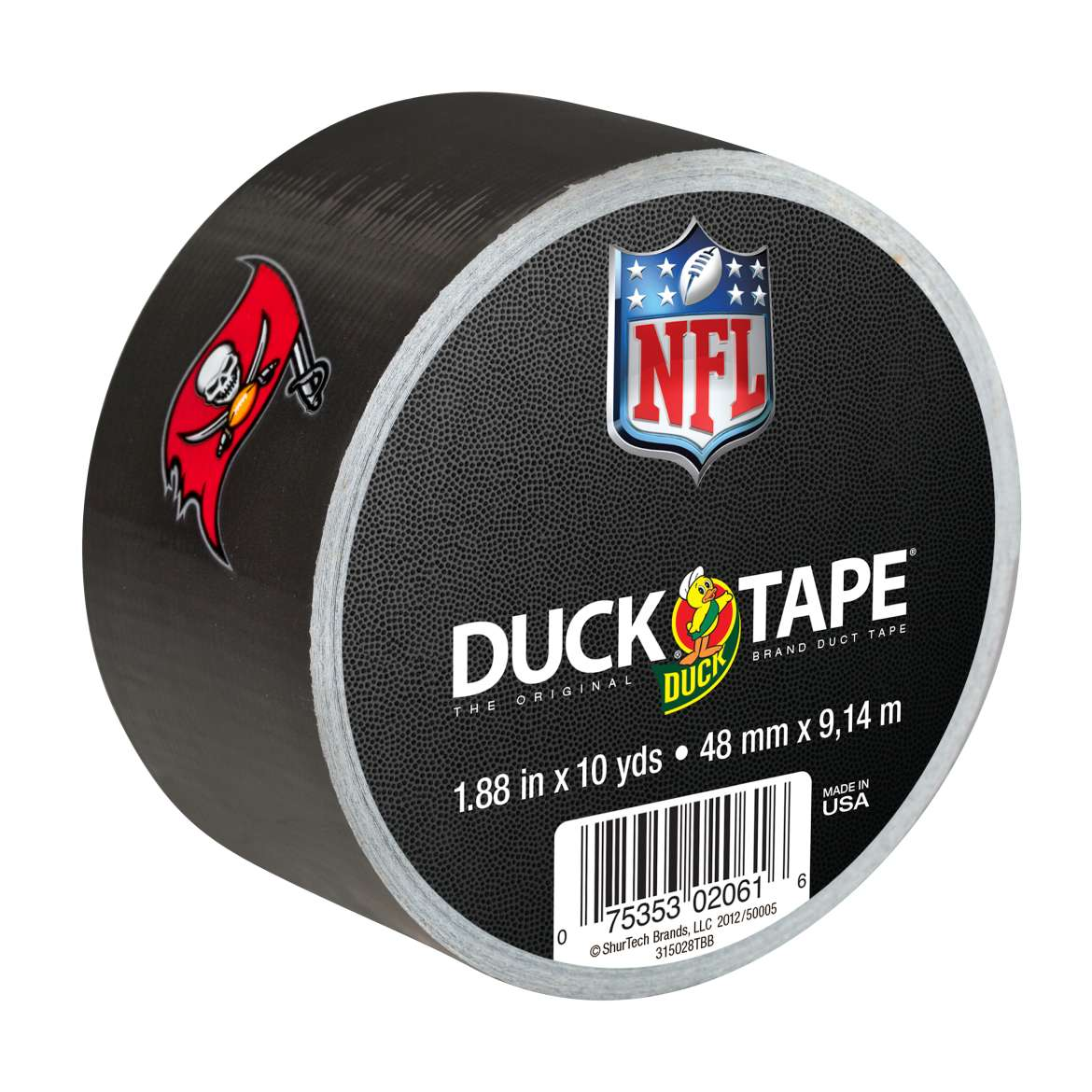 "Duck Brand Duct Tape, NFL Duck Tape, 1.88"" x 10 yard, Tampa Bay Buccaneers"
