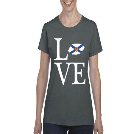 Love Canada Nova Scotia Women Shirts T-Shirt (Nova Scotia Canada)