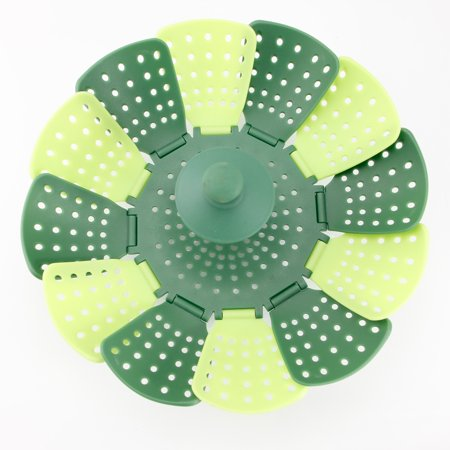 Lotus Steamer Basket Folding for Steaming Vegetable Silicone Feet Green